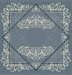 Vintage background elegance antique floral vector image