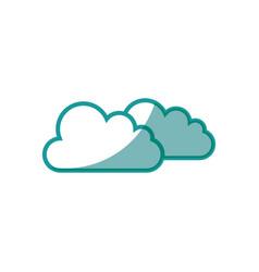 Weather clouds symbol vector