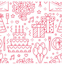 Wedding birthday party seamless pattern flat vector