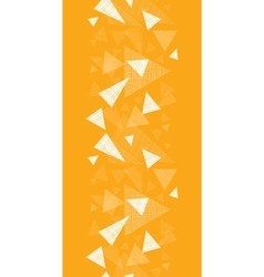 Yellow textured triangles vertical border seamless vector