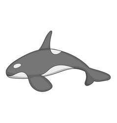 Killer whale icon cartoon style vector