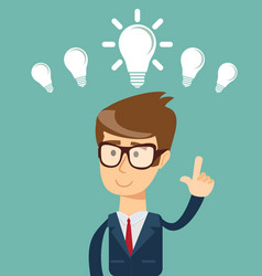 Business person having an bright idea vector