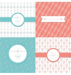 Greeting Cards Happy Birthday and Mothers Day Set vector image