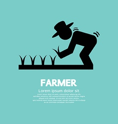 Sign Of Farmer vector image