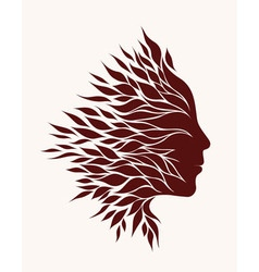 Stylized silhouette vector
