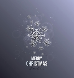 Christmas paper snoflakes vector image