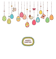 Easter hang eggs vector