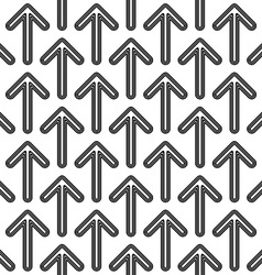 Black white seamless arrow pattern vector
