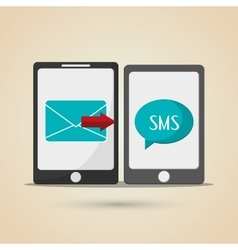 Sms icon design vector