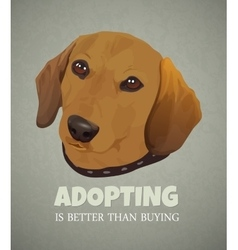 Adopting a pet is better than buying the vector