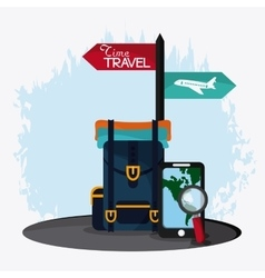 Trip icon set time to travel design vector