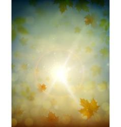 autumn sky vector image vector image