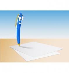 cartoon pen write vector image vector image
