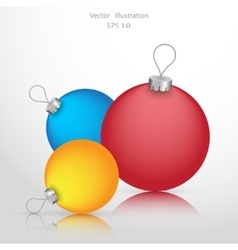 Christmas ball background icon vector image