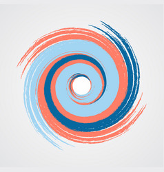 color spiral swirl with brush vector image vector image