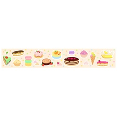 Confections horizontal background vector