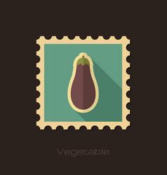 Eggplant flat stamp vegetable vector