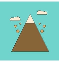 flat icon on background Mountain stones fall vector image