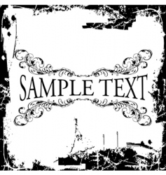Grunge decorative vintage ornate banner vector