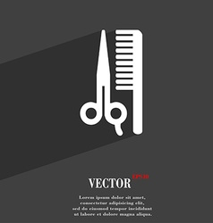 Hair icon symbol flat modern web design with long vector