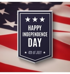 Happy Independence day background vector image