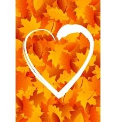 Heart for autumn vector