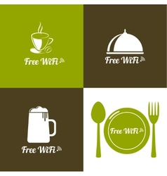 Internet cafes Wireless free connection vector image