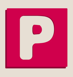 Letter p sign design template element vector