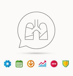 Lungs icon transplantation organ sign vector