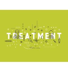 Medicine concept design treatment vector image vector image