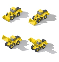 Quarry front loader with a different position of vector