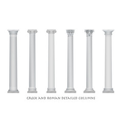 Realistic ancient greek rome column vector
