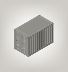 Sea container isometric vector