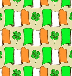 Sketch Irish pattern vector image