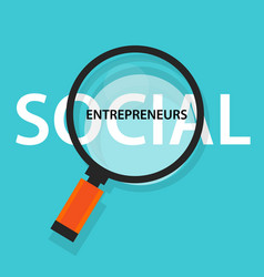 social entrepreneurs concept of business with good vector image