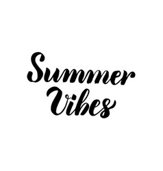 Summer vibes handwritten lettering vector