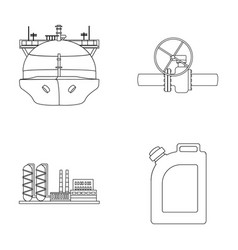 tanker pipe stop oil refinery canister with vector image