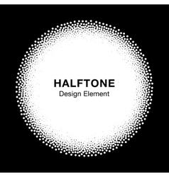 White Abstract Halftone Dots Circle vector image vector image