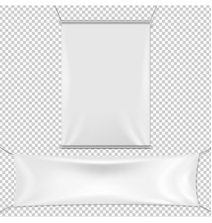 White banners set vector