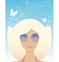 woman in summer vector image vector image