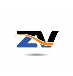 Zv company linked letter logo vector