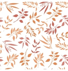 Seamless pattern with orange twigs silhouette vector