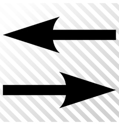 Horizontal exchange arrows icon vector