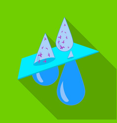water filtration icon in flate style isolated on vector image