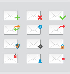 Email envelope cover icons communication and vector