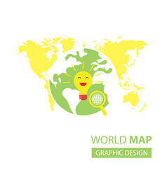 Searching idea in world map vector
