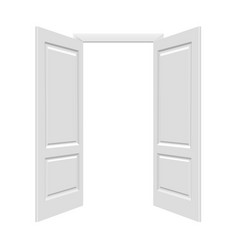 white open doors vector image