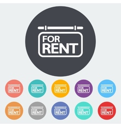 For rent single icon vector