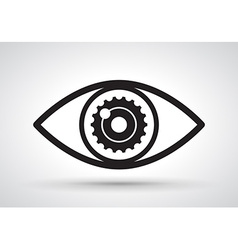 Gear in eye vector
