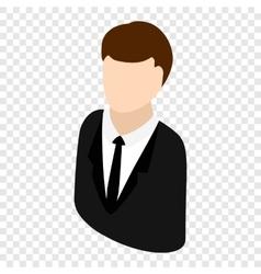 Man isometric 3d icon vector image